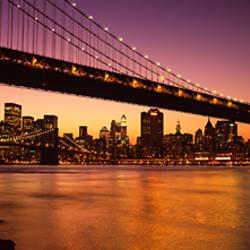 Bridge across the river, Manhattan Bridge, Lower Manhattan, New York City, New York State, USA