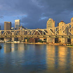 Cantilever bridge across a river, Story Bridge, Brisbane, Australia