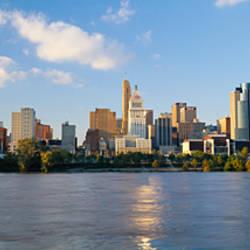 Buildings at the waterfront, Ohio River, Cincinnati, Ohio, USA