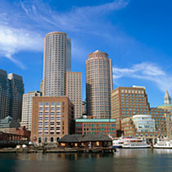Skyscrapers at the waterfront, Boston, Massachusetts, USA