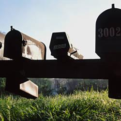 Mailboxes in a row, Napa Valley, California, USA
