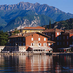 Buildings on the waterfront, Limone, Lake Garda, Italy