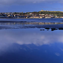 Reflection Of Cloud In Water, Scarborough, South Bay, North Yorkshire, England, United Kingdom