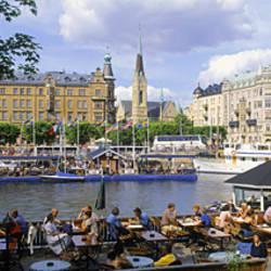 Tourist Sitting In A Restaurant, Djurgarden, Stockholm, Sweden