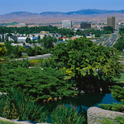 Panoramic view of a city, Boise, Idaho