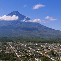 High angle view of a town, Antigua, Guatemala