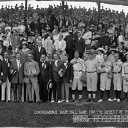Washington Congressional Baseball Game Democrats vs. Republicans for the Benefit of the Red Cross June 30 1917