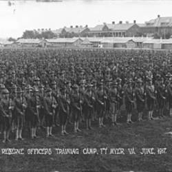 Retreat Reserve Officers Training Camp Fort Myer Virginia June 1917