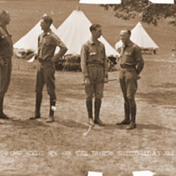 Officers Camp Newayo New York State Troopers Fayetteville New York July 28 1917