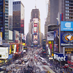 Dusk, Times Square, NYC, New York City, New York State, USA