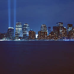 Lower Manhattan, Beams Of Light, NYC, New York City, New York State, USA