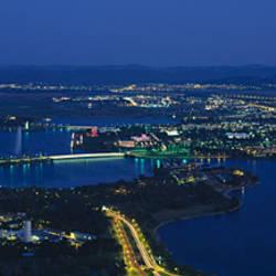 Aerial view of a city, Canberra, Australian Capital Territory, Australia
