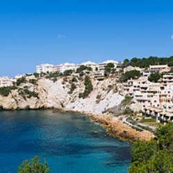 High angle view of buildings on an island, Santa Ponca, Majorca, Spain