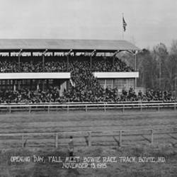 Bowie Race Track Bowie MD Opening Day Fall Meet November 13 1915