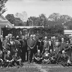 Group Including Einstein and Harding 1921 Washington DC