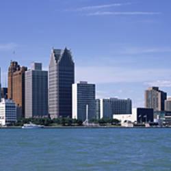 Buildings at the waterfront, Detroit, Wayne County, Michigan, USA