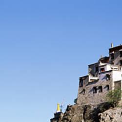 Low angle view of a castle, Yumbu Lakhang Palace, Tsetang, Tibet