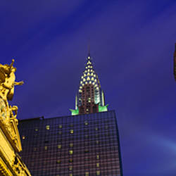 Night, Chrysler Building, Grand Central Station, NYC, New York City, New York State, USA