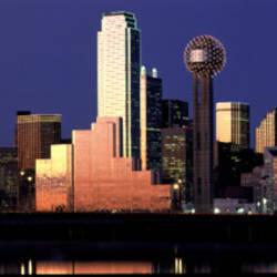 Night, Cityscape, Dallas, Texas, USA