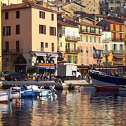 Town at the waterfront, Villefranche-Sur-Mer, Alpes-Maritimes, Provence-Alpes-Cote d'Azur, France