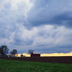 Storm clouds over a landscape, Illinois, USA