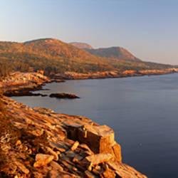 High angle view of a coastline, Mount Desert Island, Acadia National Park, Maine, USA