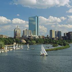 High Angle View Of A River, Charles River, Boston, Massachusetts, USA