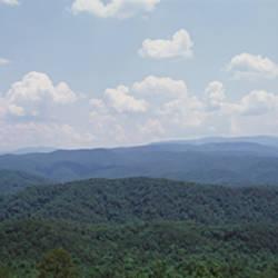 Panoramic view of mountains, Great Smoky Mountain National Park, North Carolina, USA