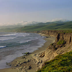 High angle view of a coast, Jalama Beach, California, USA