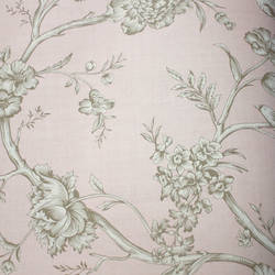 Bird Toile  Peachy Pink