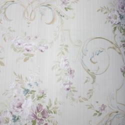 Floral Arabesque  Beige, Purple