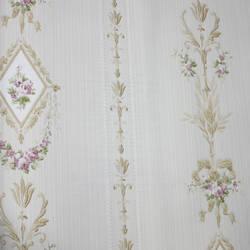 Floral Stripe  Beige, Light Brown