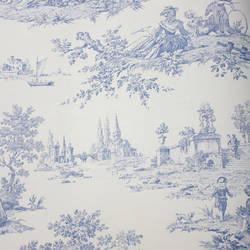 Scenic Toile White, Blue