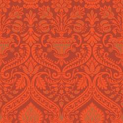 Damask, Burnt Orange Floral
