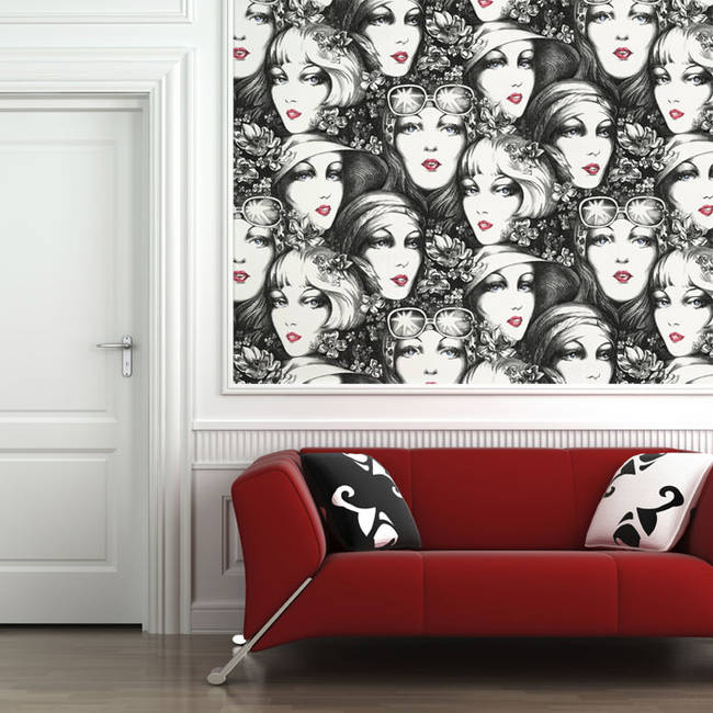 Lipstick and Shades - Wallpaper Tiles