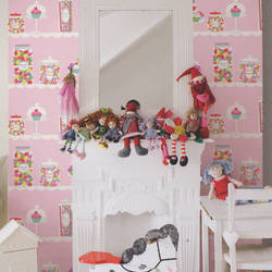 Sweet Tooth Cotton Candy Pink Kids Wallpaper