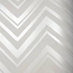 Chevron Stripe Silver Moon Kids Wallpaper