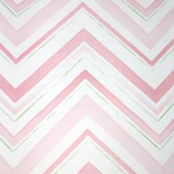 Chevron Stripe Pink Petal Kids Wallpaper