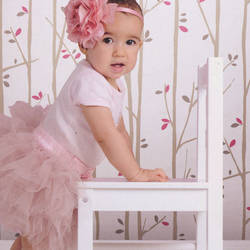 Twiggy Taupe and Pink Kids Wallpaper