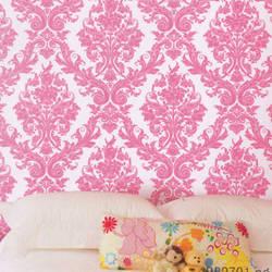 Damask Princess Ultra Pink Kids Wallpaper