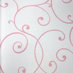Swirls and Curls Pink Petal Kids Wallpaper