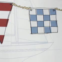 Nautical Flag Border Red Blue Kids Wallpaper Borders