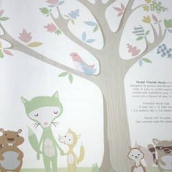 Forest Friends Pastels Kids Wallpaper