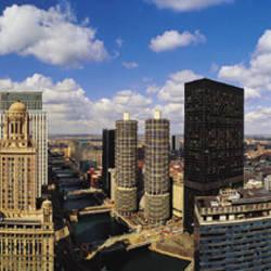 Skyline From Lake Michigan, Chicago, Illinois, USA