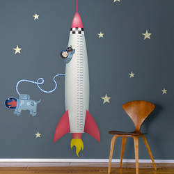 Rocket Growth Chart - Wall Decal