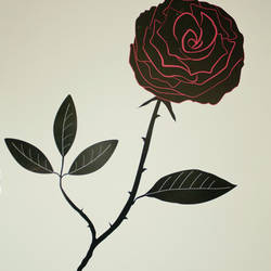 Black Velvet Rose - Wall Decal