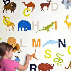 Alphabet Zoo - Wall Decal