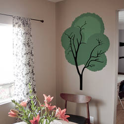 Shaggy Tree - Wall Decal