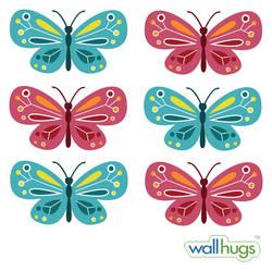 Butterflies, Gemstones - Wall Decal