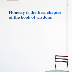 Honesty - Quote Wall Decal
